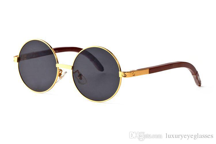 bbf09b8862 Optical Frame Wooden Sunglasses Buffalo Horn Round Lens Reader Sun Glasses  Clear Brand Fashion Reader Spectacles Prescription Eyewear C34 Locs  Sunglasses ...