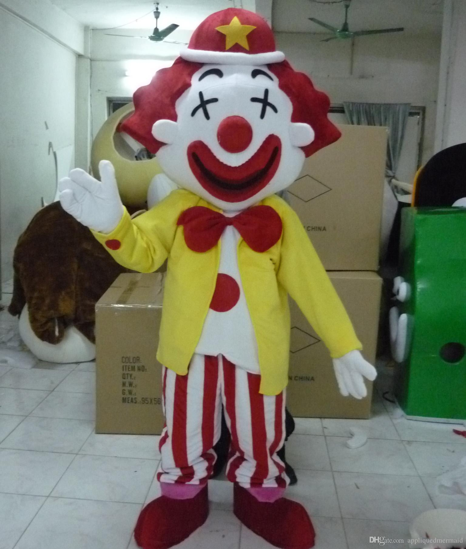 SX0723 100% real photos of big mouth clown mascot costume for adult to wear for sale