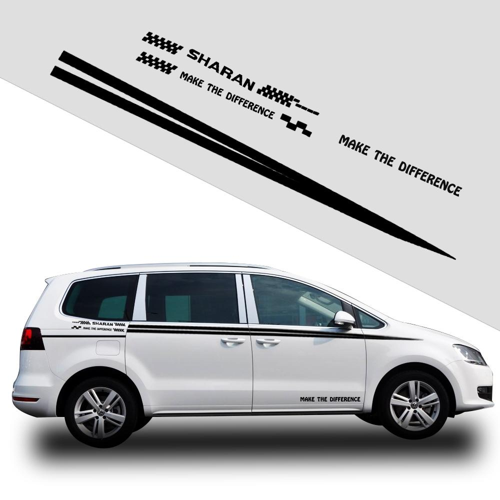 2019 car sticker for vw volkswagen sharan car styling auto vinyl graphic car side body decals diy black or white from jinggongcar 19 45 dhgate com