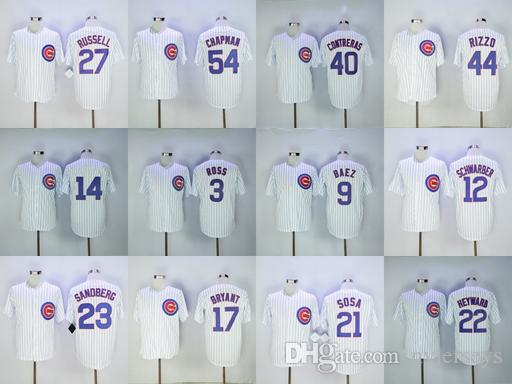 los angeles 6b551 249e0 Top Quality 2019 Chicago Men s Cubs Jersey Aroldis Chapman Willson  Contreras Addison Russell Sandberg Baseball Jerseys