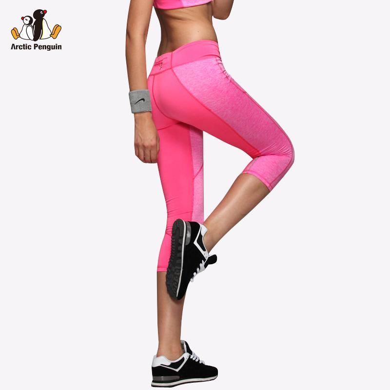 31fc3300bc888 2019 AP Yoga Leggings Women High Elasticity Sport Cropped Pants QuiDry Gym  Running Tights With Pocket Fitness Yoga Female Capris From Sportsun, ...