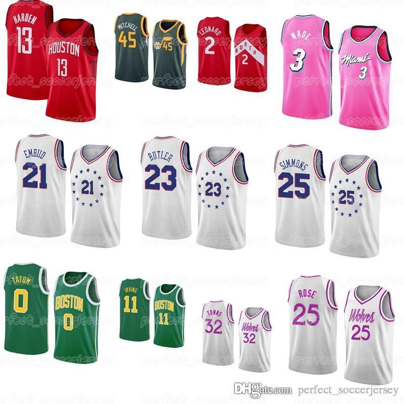 buy popular cd5b8 e8cbb new Best Sellers Christmas Dwyane 3 Wade James 13 Harden Markelle 20 Fultz  Ben 25 Simmons Joel 21 Embiid embroidered basket Jersey