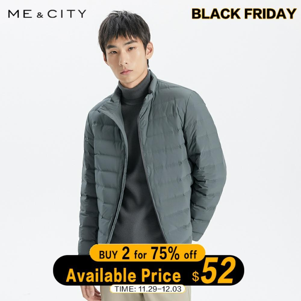 Me&City 2019 New Down Jacket Men Winter Warm 90% White Duck Down Coat Solid color Man Leisure warm Coat