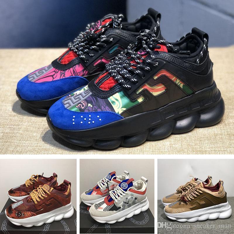 1ff4364162 Chain Reaction Love Sneakers Luxury wcdhtms Designer Shoes Uomo Donna  Fashion Casual Shoes Scarpe da ginnastica Link-Embossed Sole Scarpe donna  di ...