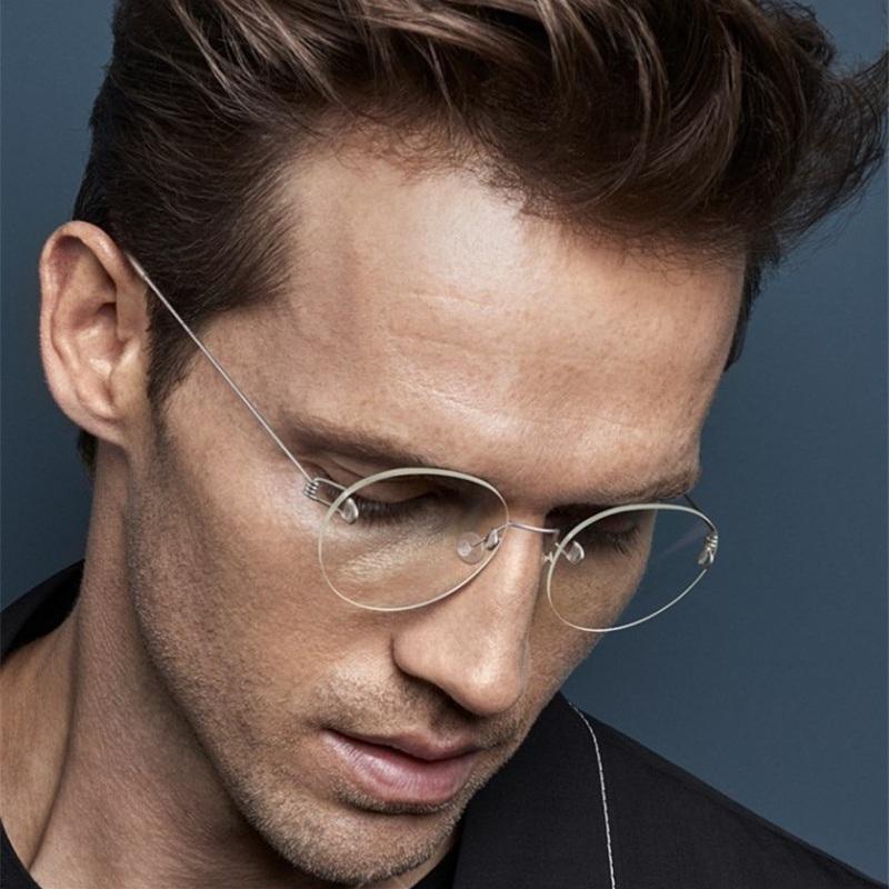 Compre ELECCION Óculos Sem Aro Quadros Ópticos Homens 2018 Novo Ultraleve  Titanium Rim Rodada Armações De Óculos Mulheres Sem Parafusos Óculos De ... 9553377773