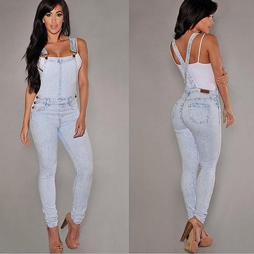 Women Sexy Slim Fit Baggy Loose Jeans Denim Overalls Pants Jumpsuit Rompers Y190429