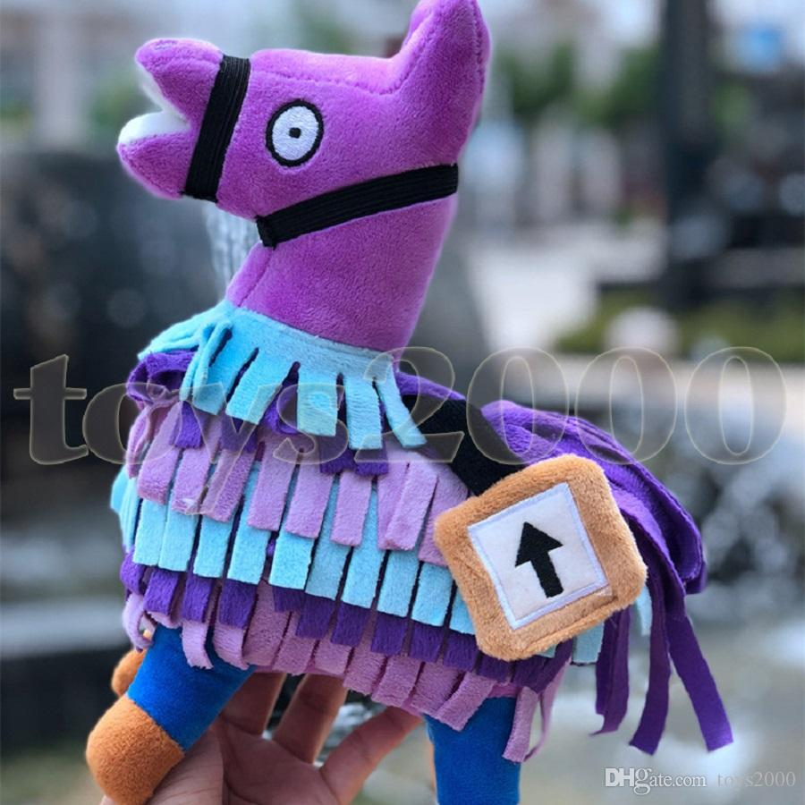 8.5 Inch Original Surprise Treasure Box Plush toys Troll Stash Llama Alpaca Rainbow Horse Fortnight Game toys wholesale