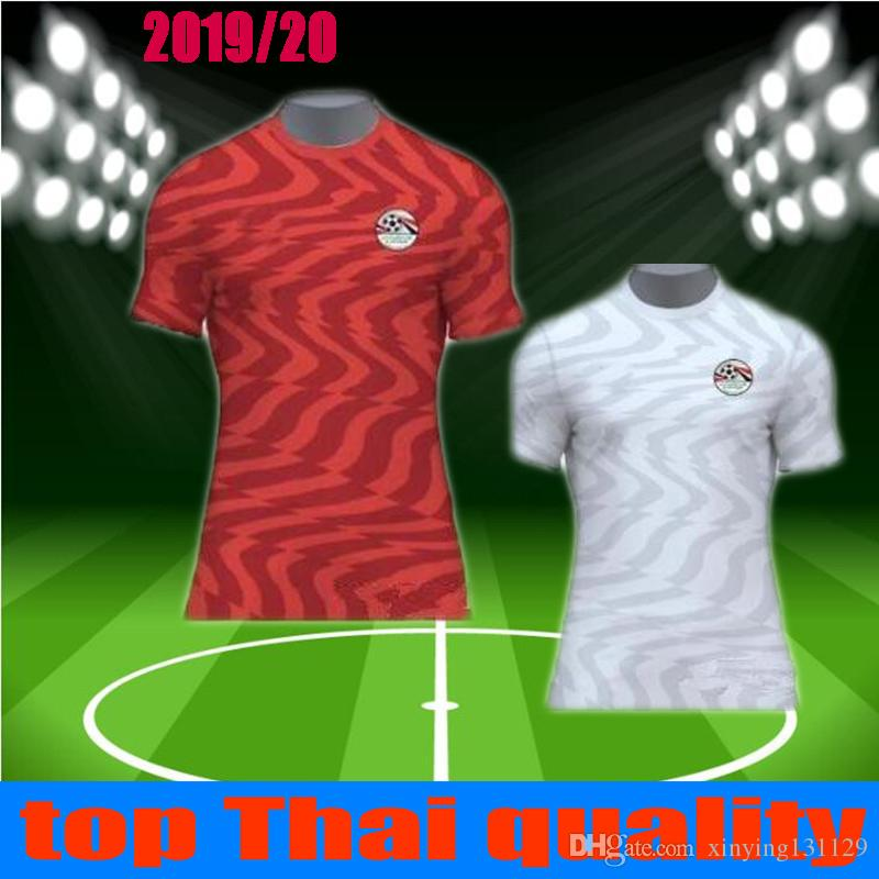 2019 new M. SALAH Egypt soccer jersey 19 20 Home Red KAHRABA A. HEGAZI RAMADAN national team footbal uniforms jerseys shirts