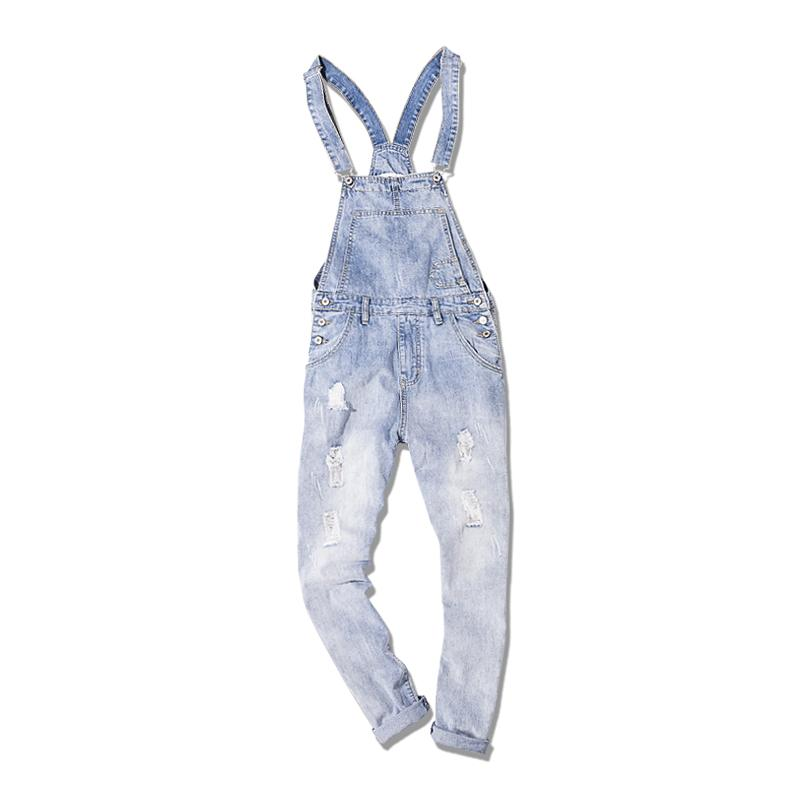 f56abd1624 Compre Mono De Mezclilla Para Hombres Vaqueros Streetwear Para Hombres  Tallas Grandes Pantalones Enormes Pantalones Con Tirantes Moda Bolsillo Hip  Hop Monos ...