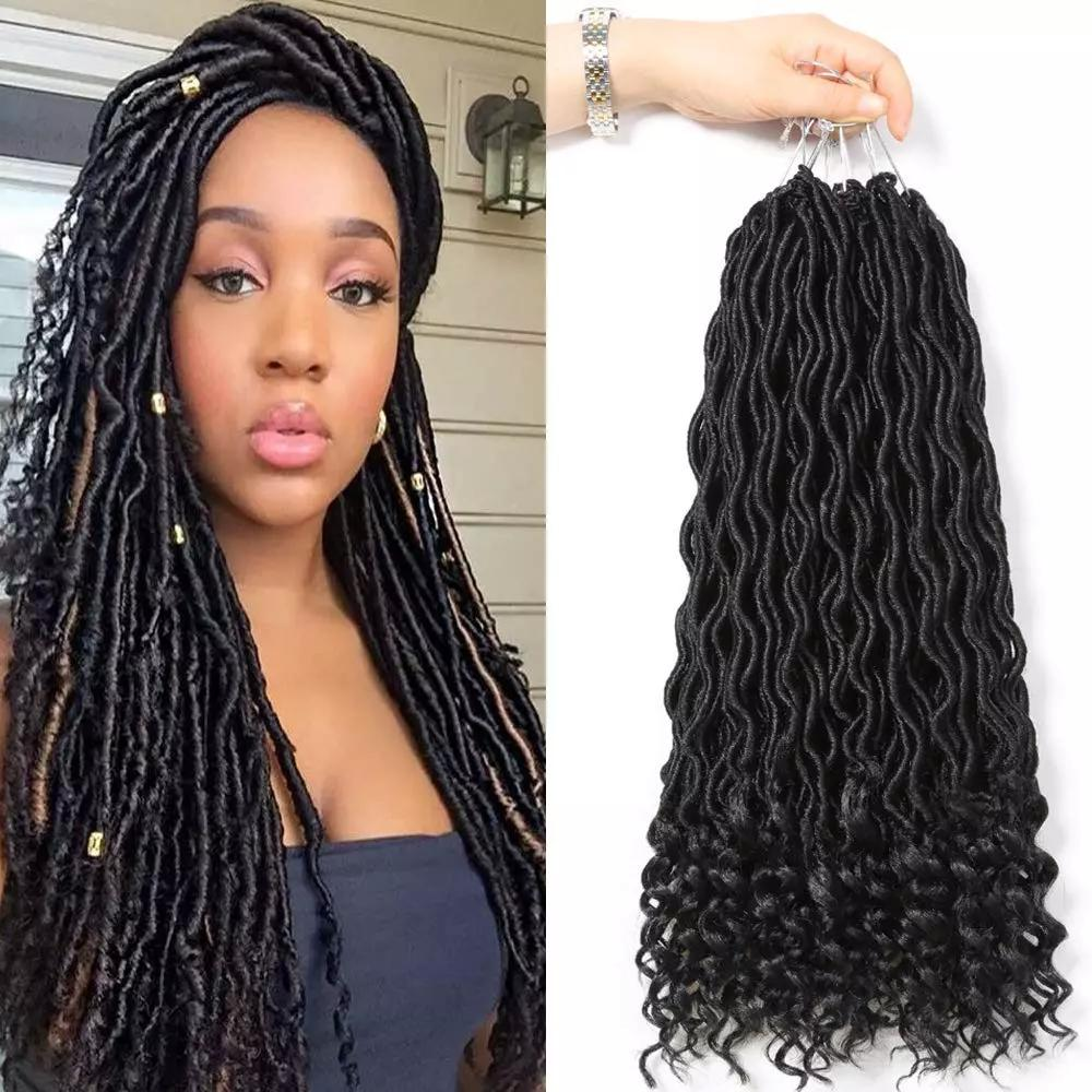 Goddess Faux Locs Crochet Hair 18inch Deep Ends Dreadlocks Braiding