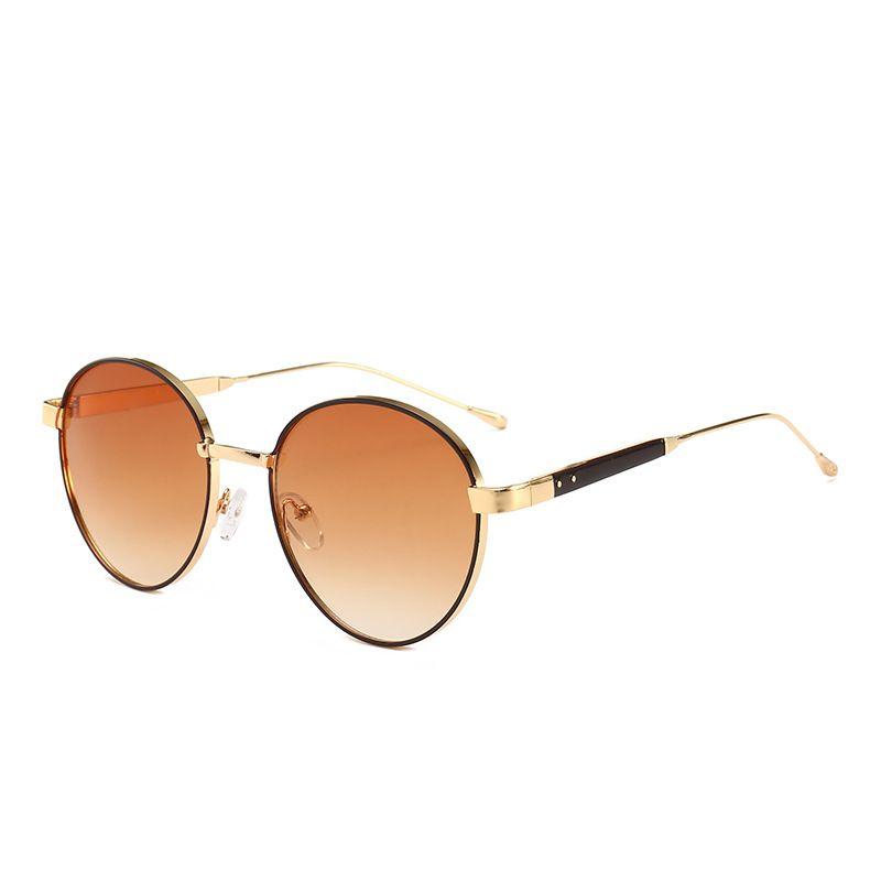 f9d3d710bf 2019 Brand Retro Sunglasses Luxury Brand Fashion Round Glasses High ...
