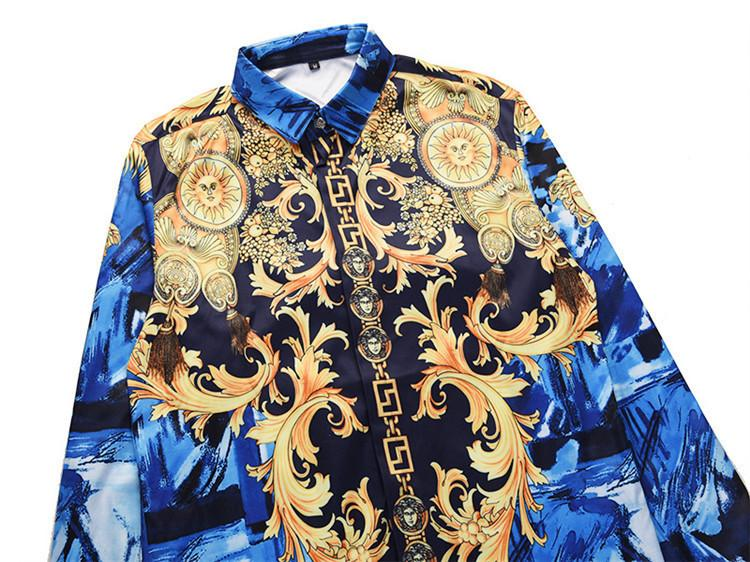 afa9009fb692 Man Long Sleeves Shirt Classic Leisure Time Large Code Mens Printed ...