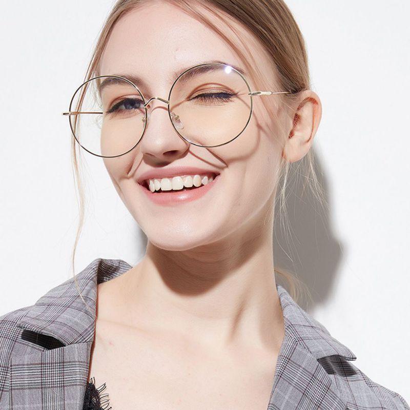 45f7de5478 2019 Women Eyewear Accessories Oversized Metal Sunglass Frames Round Frame  Clear Lens Women S Glasses Eyeglasses Femme From Fashluck