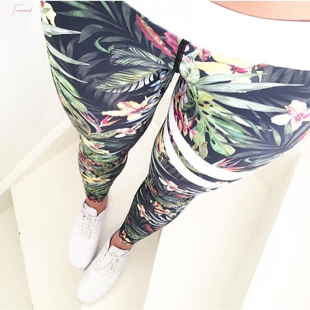 Sexy Pants Druck Fitness-Gamaschen-Frauen mit hohen Taille Legging Workout New Fitness Frauenkleidung Quick Dry Sporter Leggings