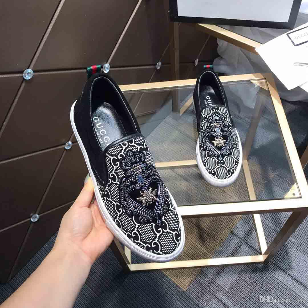 New arrivel loafer fashion men Black leather surface with pattern design luxury brands casual shoes Plate-forme walking shoes#2F