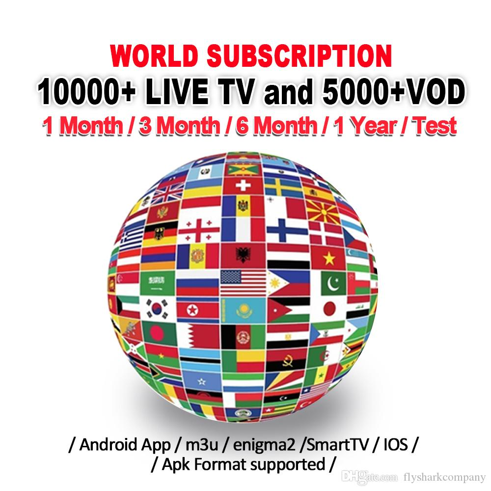 IP Box TV Subscription with 10000+live French USA CA UK Germany Italy Spain Portugal Abonnement For smart tv Mag Android tv box