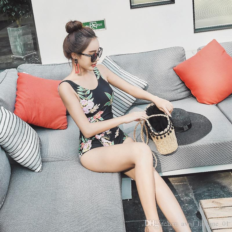 New Hot Spring One-Piece Swimsuit For Women To Cover Up Their Bellies And Slim Up Their Korean Hot Style Swimsuit