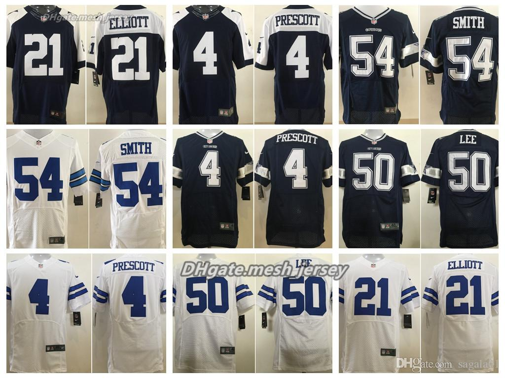 cbff530592b 2019 Men Dallas Cowboys Jersey 21 Ezekiel Elliott 4 Dak Prescott 50 Sean  Lee 70 Zack Martin 54 Jaylon Smith Stitching Elite Jerseys From  Top_jerseys001, ...