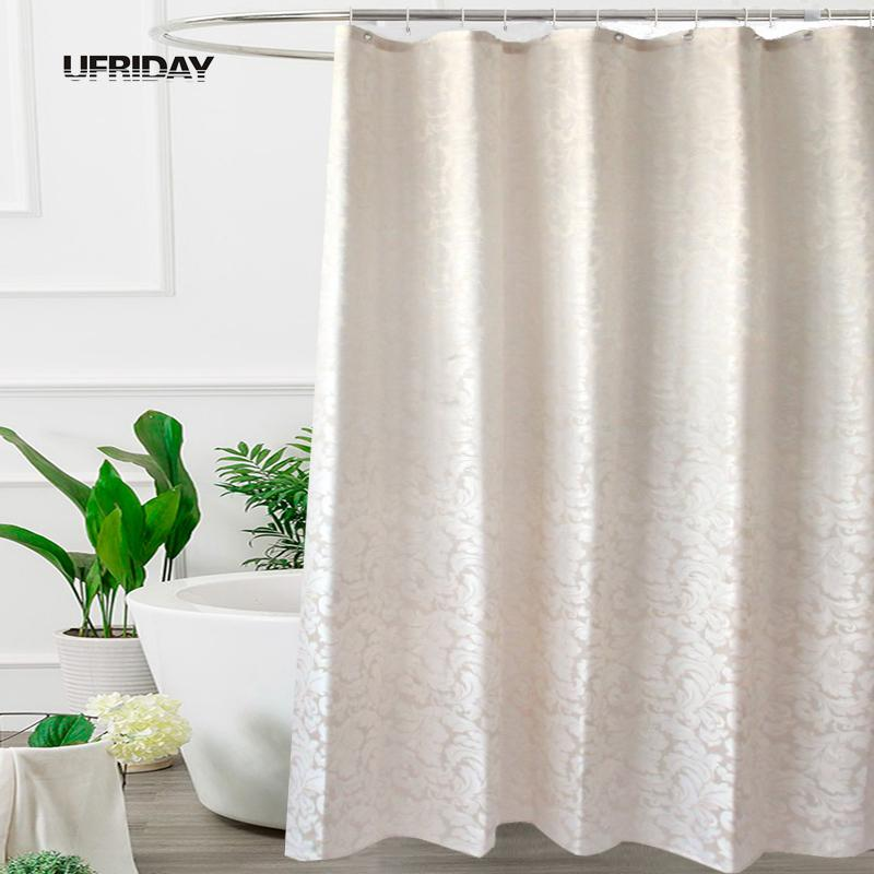 2019 UFRIDAY Waterproof Fabric Shower Curtain Leaves Jacquard Polyester Bathroom Curtains European Elegant Thick Bath C18112201 From