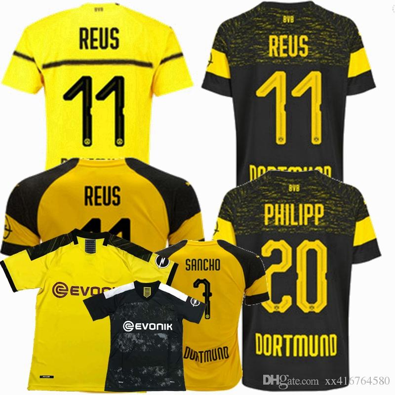 0d028a6d61a 2019 New 2018 2019 2020 Borussia Dortmund Soccer Jersey 18 19 20 GOTZE  SANCHO REUS Borussia HOME Away 3rd Football Shirts S 2XL From Xx416764580, .