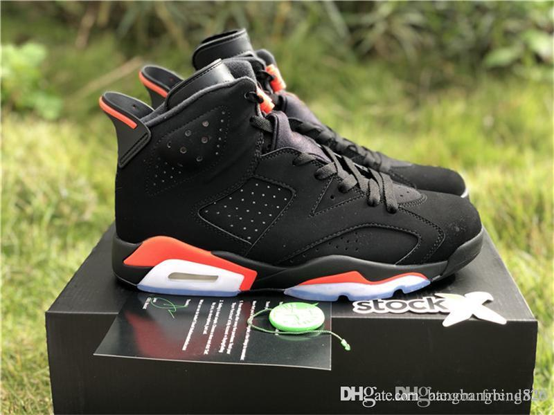 new style 7fe6d dac7e 2019 Hot Authentic OG 6 Black Infrared 6S 3M Basketball Shoes Sports  Sneakers For Man Woman 384664-060 With Original Box
