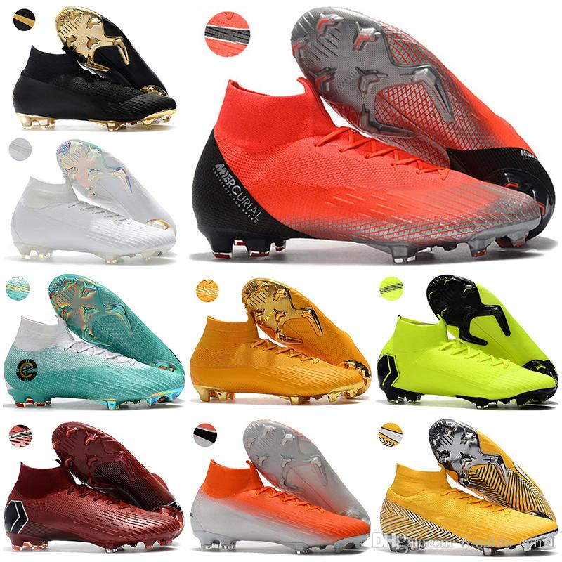 Compre Botas De Fútbol De Tobillo Para Hombre CR7 Mercurial Superfly VI 360  Elite FG Zapatos De Fútbol Superfly Neymar ACC Cristiano Ronaldo Tacos De  Fútbol ... 33d3aa067071e