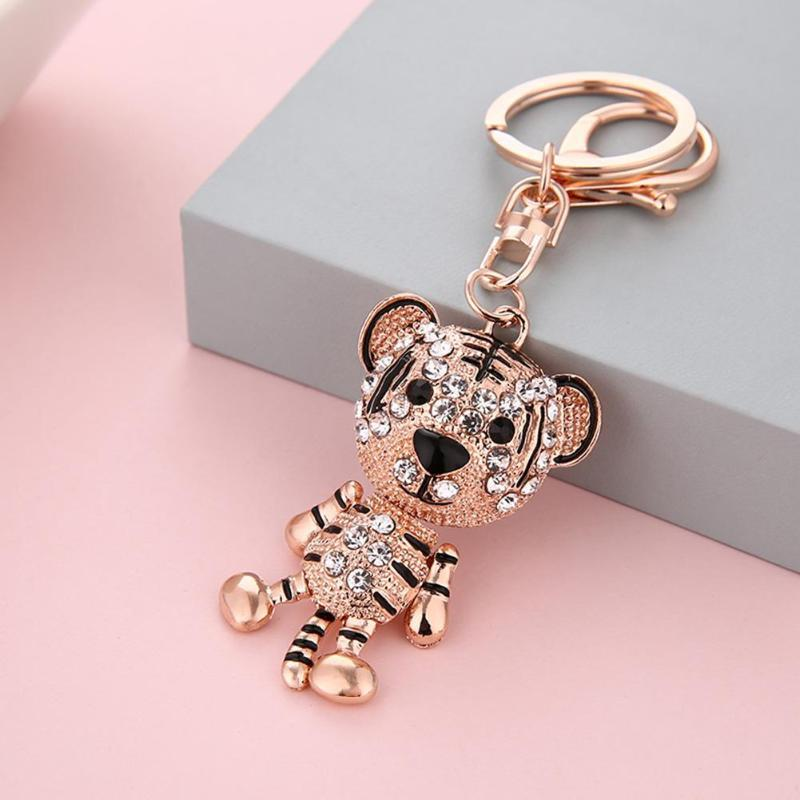 Fashion Shining Animal Keychain Bag Charm Pendant Keys Holder Keyring Jewelry For Women Girl Gift Cute Keychain Jewelry New