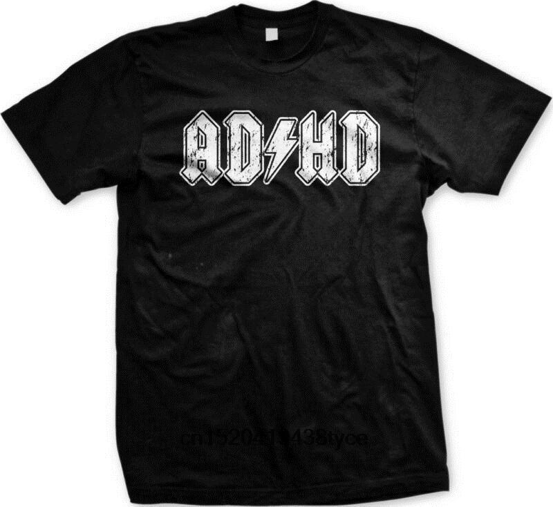 Hot sale men t shirt ADHD ADD Parody Rock and Roll Entourage Music Funny  Novelty Gift Men s T-shirt men tshirt women