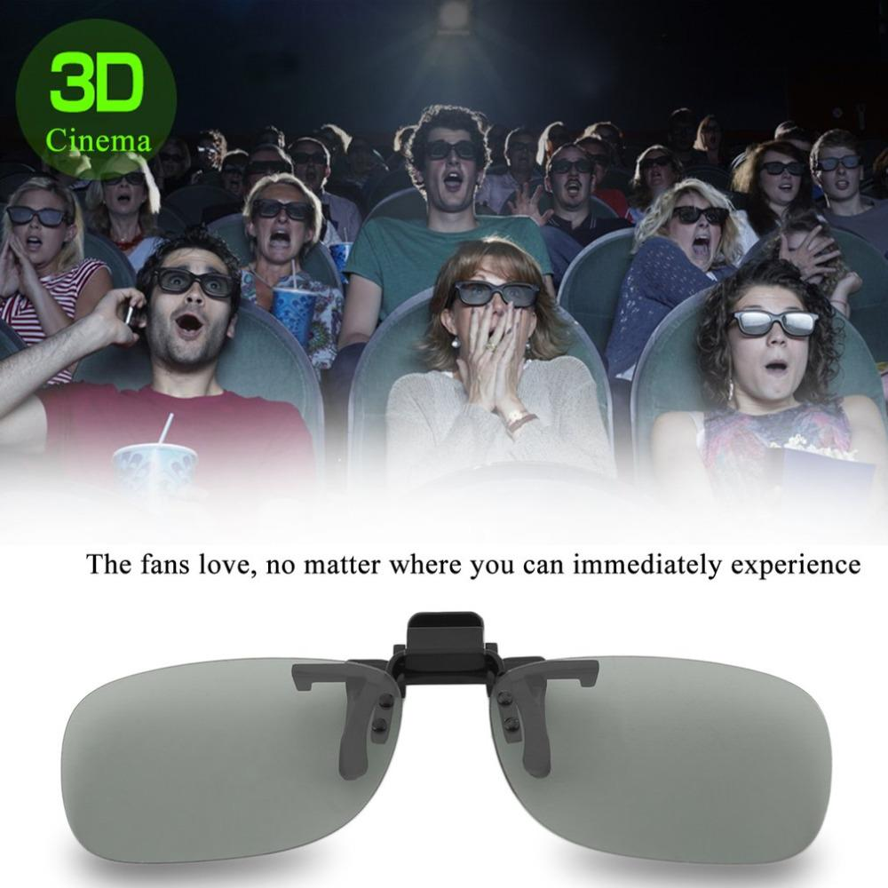 bf97e6f107 Professional 3D Light Weight Man Woman Clip On Type Passive Circular 3D  Glasses Clip For TV Movie Cinema
