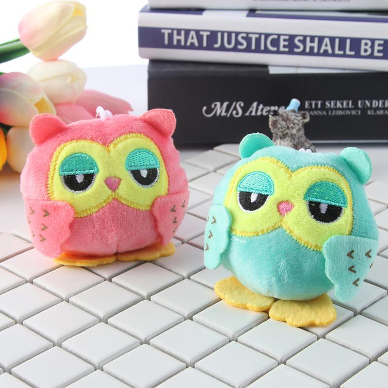 2019 Cute Owl Plush Toys For Girls Doll Pendant Key Chain Kids Plush