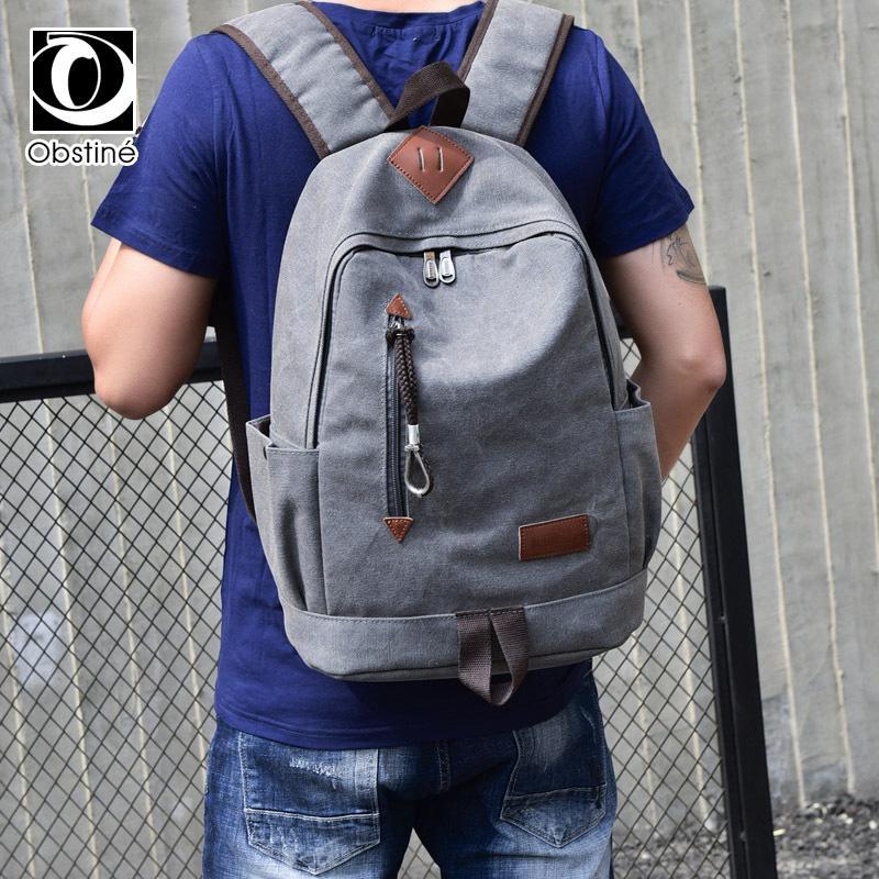 de308ff9044 Casual Travel Backpack Women & Men Unisex Cheap Canvas Backpacks Male  Bagpack Fabric Bags For Girls Laptop Back Pack Bookbag Leather Backpack  Laptop ...
