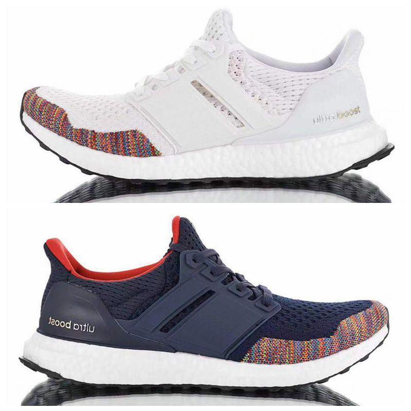 super populaire dae42 4d6ef 2019 new High Quality Ultra Boost 1 Multicolor Rainbow Toe LTD Shoes New  Limited Men Ultraboost UB 1 Multi White Navy shoes Size 40-45