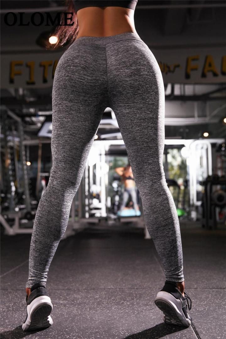 5174f7b89f248 2019 Sexy Push Up Women Leggings Solid Color High Waist Legging ...