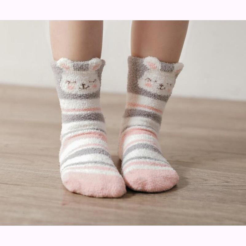 2019 New Arrived Children Socks Solid Cartoon Warm Thick Kids Baby
