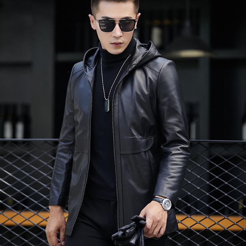 b24ac280d 2018 Sale Leather Jacket, Man Sheepskin Cap, Autumn Thin Windbreaker,  Fashion, Leisure And Korean Version Of Self-cultivation