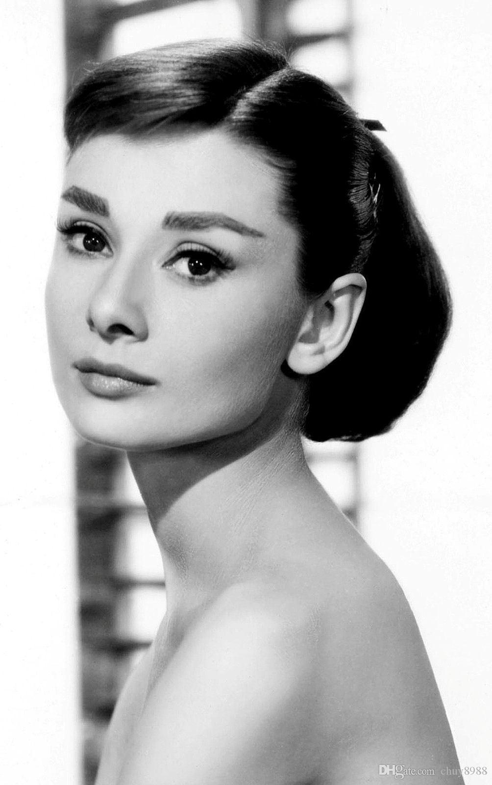 7db8acf2e62 2019 Audrey Hepburn Classic Hollywood Actress Art Silk Print Poster  24x36inch60x90cm 083 From Chuy8988