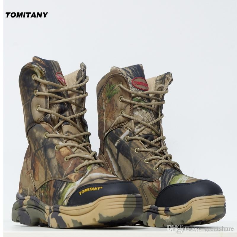 0552fe69412 Hunting Outdoor Trekking Walking Boots Men Waterproof Tactical Camping  Climbing sneakers Military Camouflage Hiking Shoes Mens #97138