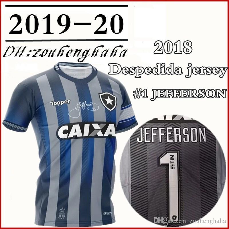 b795eb341 2019 Camisa Botafogo Goleiro Jefferson Despedida 2018 CINZA Socce Jerseys  2019 #1 JEFFERSON Goalkeeper Retired Football Shirt From Zouhenghaha, ...