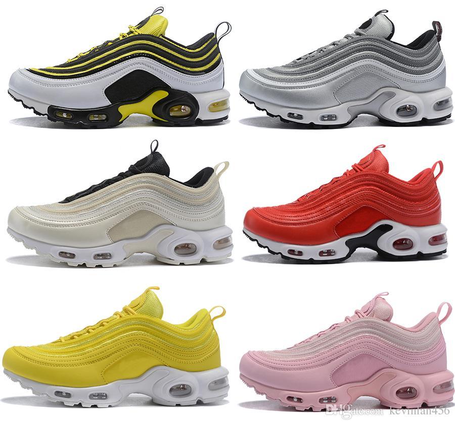 0394ba4b387fd High Quality Vol.97 Spring Autumn Max Plus Triple TN Designer Shoes Bullet  Metallic White Black Grey Men Women Sport Shoe Sneaker 36 46 Womans Running  Shoes ...