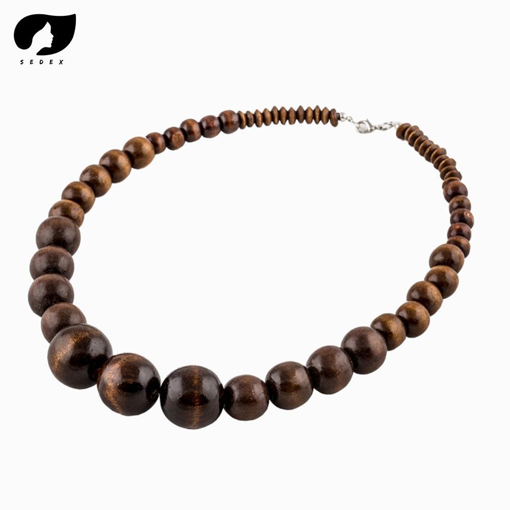 Tibetischen Perlen Poliert Dreieck Dragon Eye Bodhi Samen Gebet Malas Natürliche Holz Mann / Frauen Halskette Perlen Halsketten
