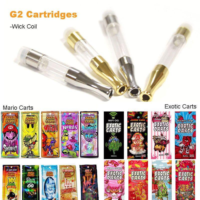 G2 Vape Tank Empty Vape Pen Cartridges of Holograms Mario Exotic Carts Dab  Pen Wax Vaporizer Pen Cartridge E Cigarettes for 510 Thread