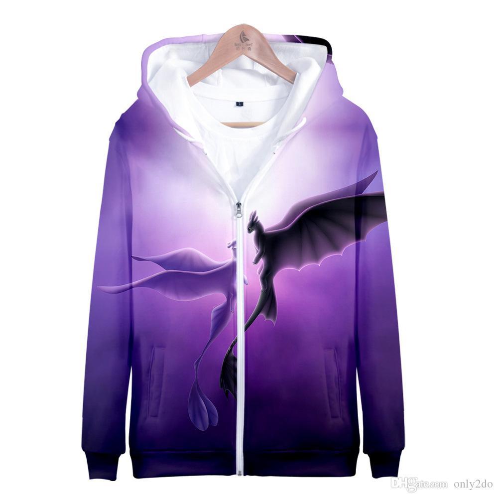 da112d9e6 Compre Impressão 3D Como Treinar O Seu Dragão Zíper Hoodies Harajuku  Graffiti Camisola De Manga Longa Mens Designer Hoodies Pullover Jacket  Streetwear De ...