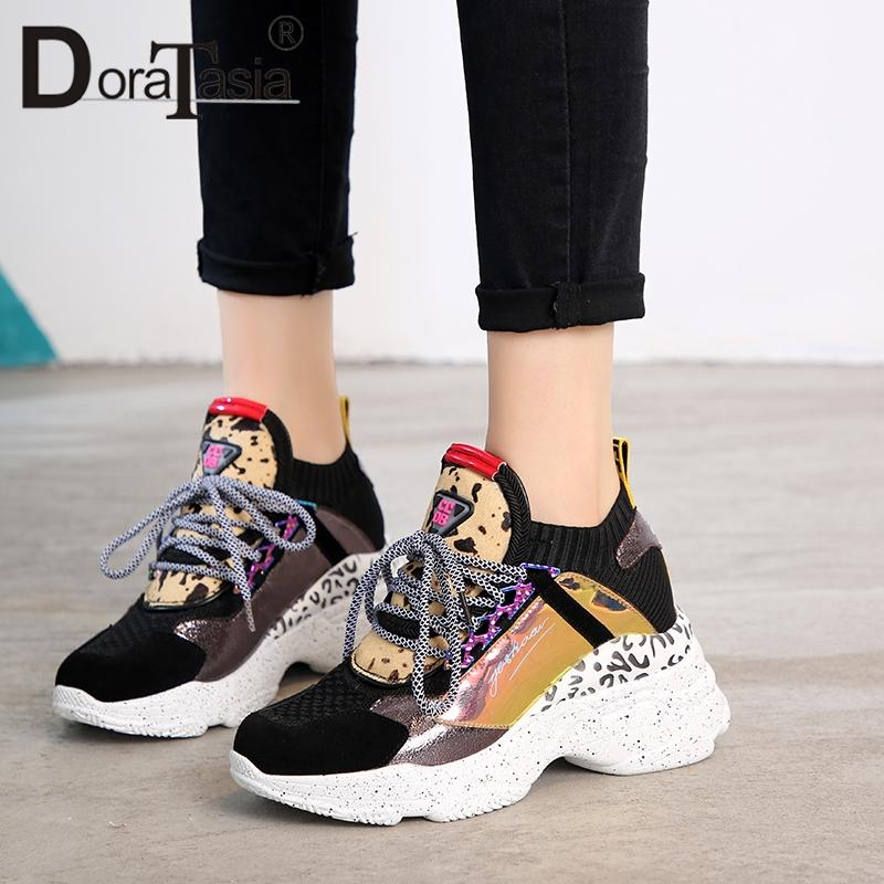DoraTasia 2019 New Spring Genuine Cow Leather Sneakers Female Lace Up Horse  Fur Decoration Casual Shoes For Ladies Shoes Woman Sneakers Online Deck  Shoes ... 6fcaefaba254