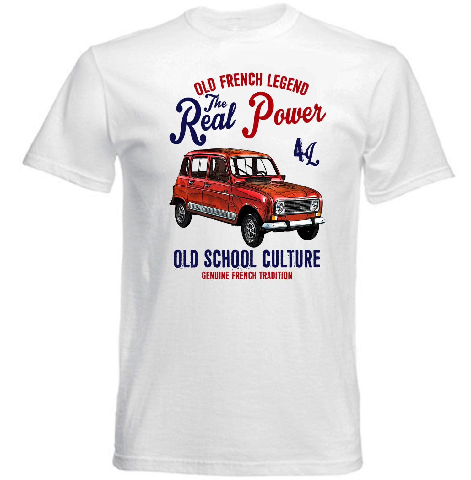 2019 Fashion Hot VINTAGE FRENCH CAR RENAULT 4L - NEW COTTON T-SHIRT