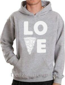 Love Pizza Funny Gift Idea For Junk Food Lovers Hoodie Novelty