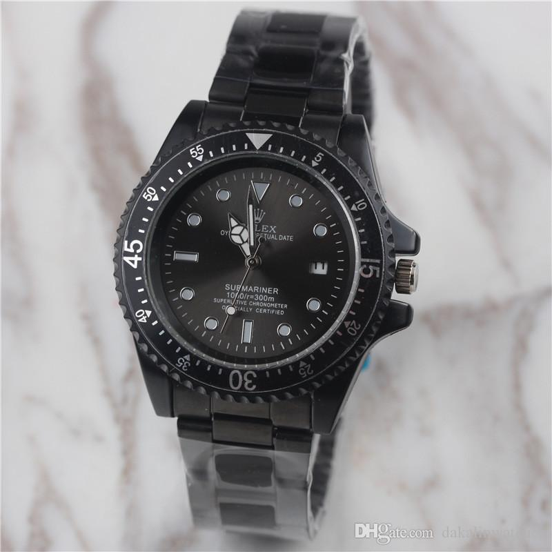 fa63e74ebca Compre Rosto Negro Novo Homem De Luxo Relógios De Quartzo Homens Famosa  Marca De Aço Inoxidável Relógio Esportivo Data Auto Mens Moda Masculina  Casual ...