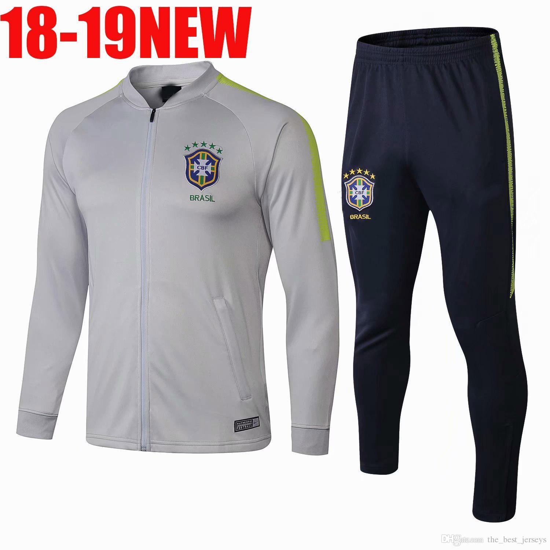New Adult Paris Tracksuit 2018 19 Psg Soccer Jogging Jacket MBAPPE ... bf6e16af1