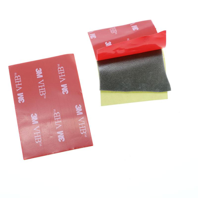 (10 Pieces) 3M Black Tape, Double Sided Pad, 40*60mm Strong Adhesive ,  Office Tape