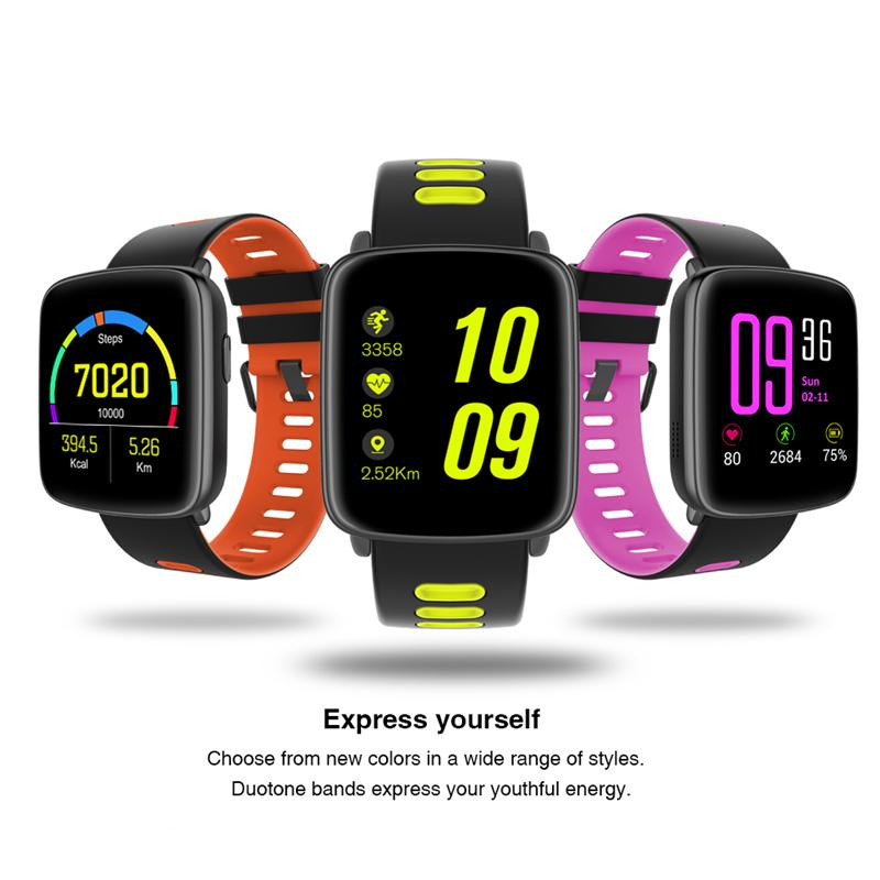 GV68 Bluetooth Smart Watch Wrist BLE 4.0 IP68 Waterproof IPS 1.22 Big Screen Fitness Tracking Watch