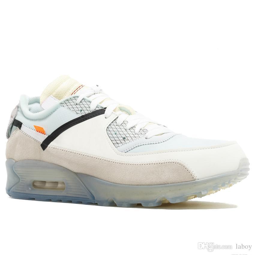 online store b7c25 939f7 Compre Nike Air Max Airmax Off White Classic Hombres Zapatillas De Running  Para Mujer Virgil Designer World Cup Triple Blanco Negro Rojo Zapatillas De  ...